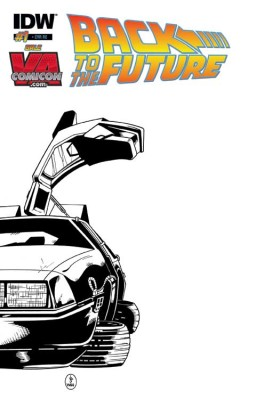 The car will be in SILVER FOIL on this Get-A-Sketch variant. Cover by Snead & Wycouch. Get it signed by Bob Gale!